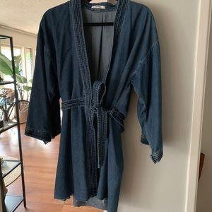 GRLFRND Dresses - GRLFRND denim Kimono Dress Size Small